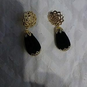 Velvet Impressions clip earrings